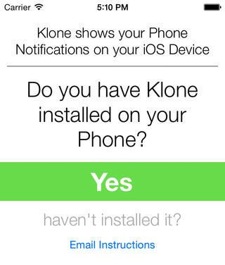Klone-Get Notifications On Your iOS Device