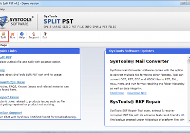 Dissever Your Outlook PST File with Split PST Utility